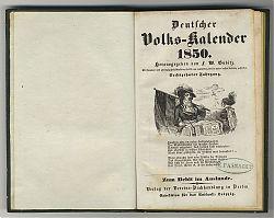 Gubitz : Deutscher Volks-Kalender 1850 : Antiquariat Christine Schmid, Wasserburg