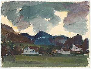 Klaus Honauer (Soyen-Wasserburg). - Aquarell, 1961